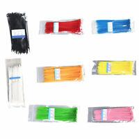 100xColourful Nylon Self-Locking Label Tie Network Cable Marker Wire Strap Zip