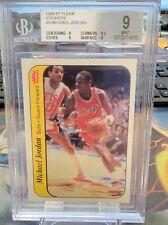 1986 87 FLEER MICHAEL JORDAN ROOKIE STICKER RC BGS 9 TRUE MINT + W/ 9.5 SUB