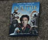 DOLITTLE BLU-RAY + DVD + DIGITAL CODE WITH SLIPCOVER BRAND NEW