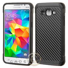 Samsung Grand Prime Advanced Armor Case - Carbon Fiber Black/Black