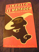 Partition Indulto Calvero El Matador V Marceau Music Sheet 1959