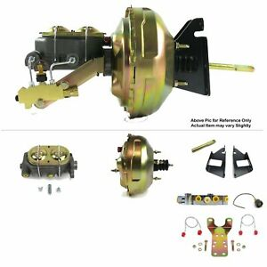"1973-87 Chevrolet Pickup C10 FW Mount Power 11"" Dual Brake Booster Kit Disc/Disc"