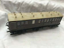 O GAUGE BRASS 6 WHEEL COACH WITH SEATED PASSENGERS  ' G C R ? '
