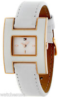 Tommy Hilfiger 1781153 White Enamel Dial Leather Strap Women's Watch