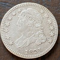 1821 Capped Bust Dime 10c Higher Grade XF Small Date #24338