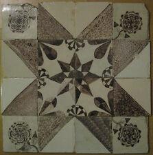 Antikes Fliesen Tableau Friesenstern Niederländische Kachel Tegel Dutch Tiles