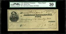 USS Cincinnati (issued in Buenos Aires) $10 Navy Check Dec. 31, 1897 PMG VF 30