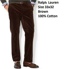 $295 Polo Ralph Lauren 33x32 Brown Classic Fit Newport Corduroy Jeans Pants New