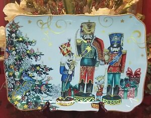 Williams Sonoma Twas the Night Before Christmas Nutcracker Platter NEW