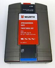 Würth Spiralbohrer Set 1-10mm, 19 Bohrer in praktischer Box HSS DIN 338 - 06344