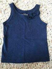 Oshkosh 9 Month Baby Girl Navy Tank With Bow