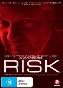RISK - BRAND NEW SEALED - JULIAN ASSANGE DOSUMENTARY