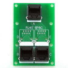 RJ45 8P8C Splitter Board, 3 Jacks Connector, Buss Board.