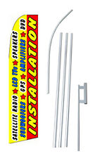 Complete 15'  Auto Electronics Installation Kit Swooper Feather Banner Sign Flag