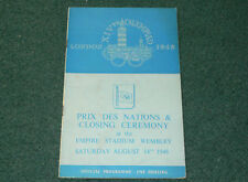 1948 Olympic Games LONDON - CLOSING CEREMONY PROGRAMME RARE - FREE SHIPPING!!!!
