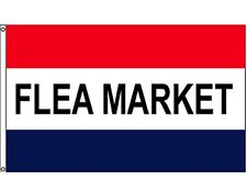 FLEA MARKET Red White Blue RETAIL BUSINESS MESSAGE NYLON FLAG 3x5 ft Made in USA