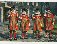 Yeoman Warders At The Tower Of London Postcard 458a