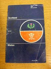 Rugby 20/01/1979: Scozia Galles V [a Murrayfield] PROGRAMMA UFFICIALE (FOL