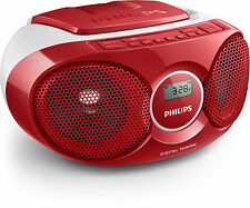Philips Az215r/12 Cd-player Radio UKW rot