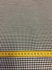 1 MTR 100% cotton fabric - Black and white checks Large