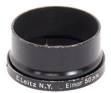 E. LEITZ N.Y. NEW YORK Elmar 50 mm A36 Fit Paraluce-RARE! VERNICE NERA fison