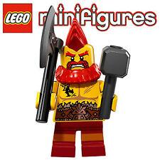 Lego 71018 - Minifigurine Serie 17 n°10 Nain Guerrier