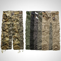 Men Combat Cargo ARMY Pant Military Camouflage Camo Work Outdoor Cotton Trousers