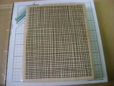 Country Burlap #6034 JRL Designs look of screen or chicken wire wm rubber stamp