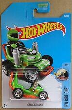 Hot Wheels 2017 45 of 365 Grass Chomper Hotwheels HW Ride-Ons - Long Card