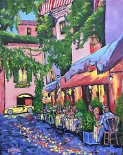 CAFE WINE Original Fine Art PAINTING DAN BYL Contemporary Modern Huge 5ft x 4ft