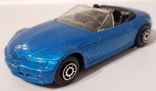 Maisto BMW Z3 Convertible Blue 2 Door Diecast Car Roadster Black Interior 1:64