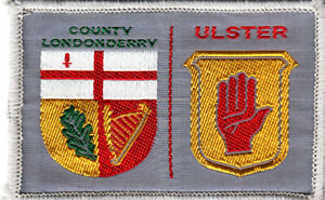 Boy Scout Badge double COUNTY LONDONDERRY/ULSTER Nthn IRELAND shiny