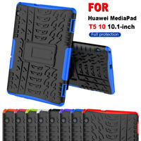 """For Huawei MediaPad T5 10 10.1"""" Heavy Duty Tough Rugged Shockproof Cover Case"""