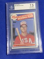 1985 Topps Mark McGwire RC #401 BGS 7.5 NM+ Rookie Card 1984 USA Baseball Team
