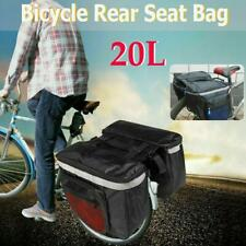 Double Pannier Waterproof Bag Bike Bicycle Cycling Rear Seat Carrier Trunk Pack