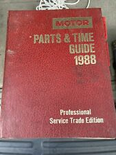 Motor  parts and time guide 1998, professional service trade edition by Motor
