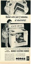 1952 Print Ad of Borg-Warner Norge Electric Range Oven