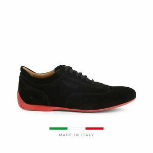 Sparco Imola-GPC Black Shoes Sneakers in Suede