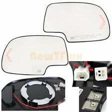 GM PU~PAIR(R+L SIDE) MIRROR-GLASS+BACKING PAD+LED SIGNAL+POWER+HEATED~PLUG&PLAY
