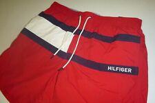 tommy hilfiger mens activewear swim beach shorts w/ pockets  sz: Lg -red