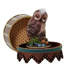 Katherine's Collection Woodlanders Owl Candy Gift Box NEW