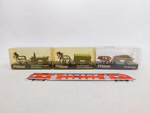 CU929-0,5# 3x Preiser H0/1:87 Bauern-/Kasten-/Dungwagen: 470+473+474, NEUW+OVP