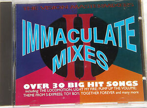 Immaculate Mixes II '2' Vision Mastermixers Immaculate Mixes 1995 CD Comp Album