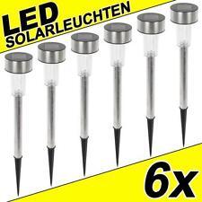 6x LED Edelstahl Solarleuchte Solar Lampe Leuchte 36cm Solarlampe Solarlampen