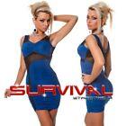 New Womens Casual Sleeveless Mini Mesh Dress Sexy Size 6 8 10 12 Party Club Wear