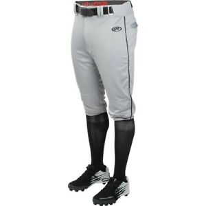Rawlings Launch Youth Knicker Piped Pant YLNCHKPP - GY/BK - L