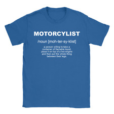 Motorcyclist Definition Mens T-Shirt Gift For Biker Funny Top Joke