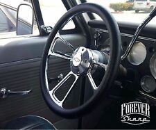 14 Billet Muscle Chevy Gm 69 94 Steering Wheel Set With Chevy Engraved Horn