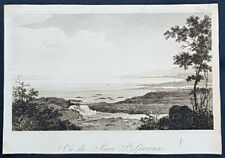 1830 Soft Earth Etching Antique Print View of The St Lawrence River, Canada