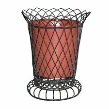 """GiftBay Tall Wire & Pot Black & Red Container/Vase 11"""" High, Strongly Built"""